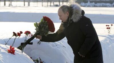 Russia marks 76 years since World War II - end of the siege of Leningrad